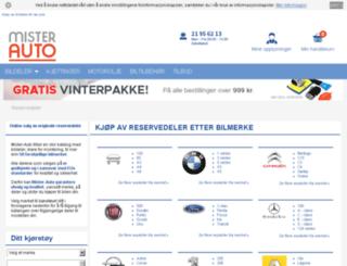 bilmerker.mister-auto.no screenshot