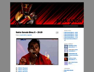 bimaanon.wordpress.com screenshot