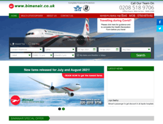 bimanair.co.uk screenshot