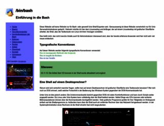bin-bash.de screenshot