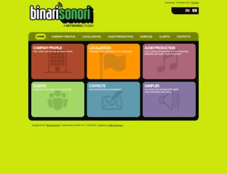 binarisonori.com screenshot