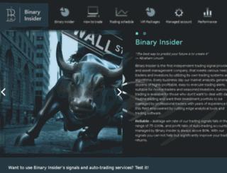 binary-insider.com screenshot