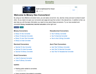 binaryhexconverter.com screenshot