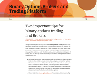 binaryoptionsbrokers1.wordpress.com screenshot