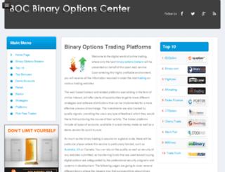 binaryoptionscenter.org screenshot