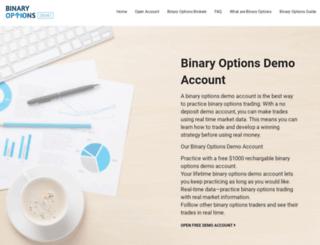 binaryoptionsdemo.com screenshot
