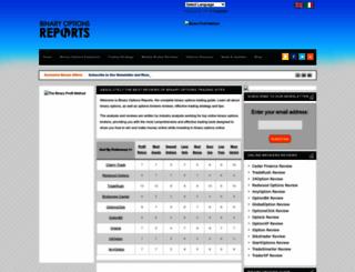 binaryoptionsreports.com screenshot