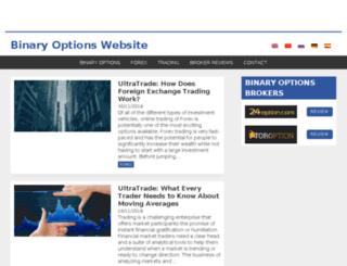 binaryoptionswebsite.com screenshot