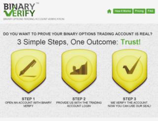 binaryverify.com screenshot