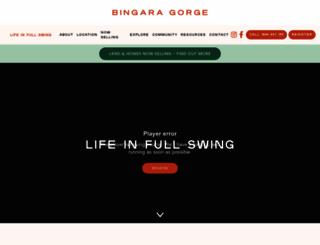 bingaragorge.com.au screenshot