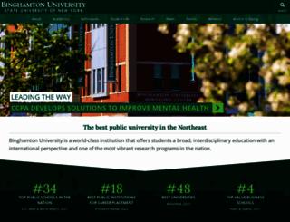binghamton.edu screenshot