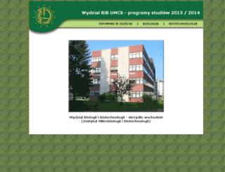 binoz-programy.umcs.lublin.pl screenshot
