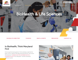 bio.maryland.gov screenshot