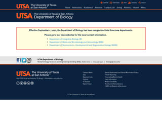 bio.utsa.edu screenshot