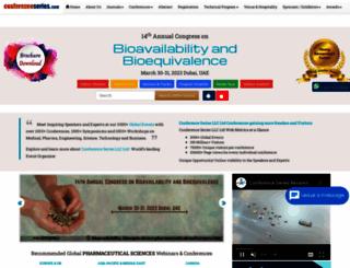 bioavailability-bioequivalence.pharmaceuticalconferences.com screenshot