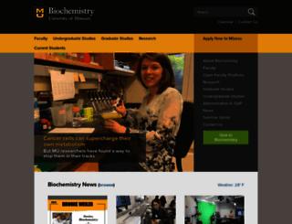 biochem.missouri.edu screenshot