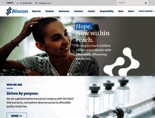biocon.com screenshot