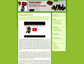 biodegradableurnsuk.wordpress.com screenshot