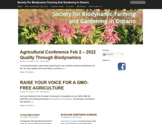 biodynamics.on.ca screenshot