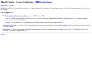 bioinformatics.ai.sri.com screenshot