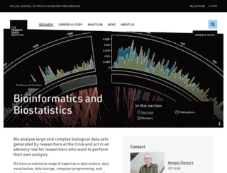 bioinformatics.cancerresearchuk.org screenshot