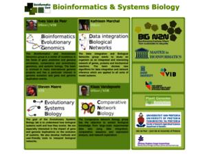 bioinformatics.psb.ugent.be screenshot