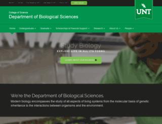 biol.unt.edu screenshot