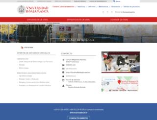 biologia.usal.es screenshot