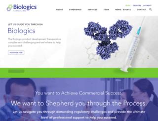 biologicsconsulting.com screenshot