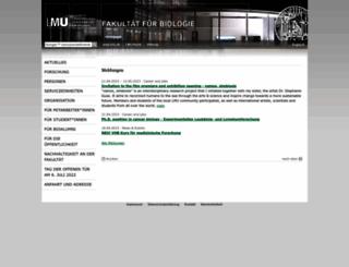 biologie.uni-muenchen.de screenshot