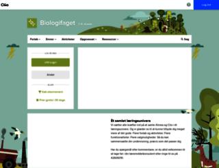 biologifaget.dk screenshot