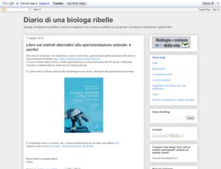 biologiribelli.blogspot.it screenshot