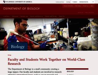 biology.cua.edu screenshot