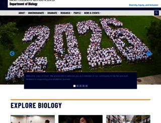 biology.emory.edu screenshot