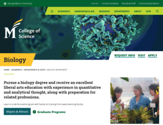 biology.gmu.edu screenshot