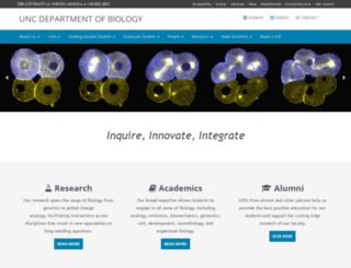 biology.unc.edu screenshot