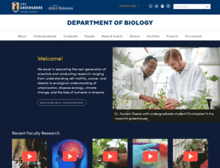 biology.uncg.edu screenshot