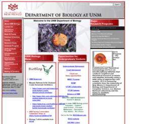 biology.unm.edu screenshot