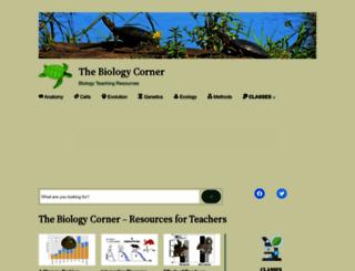biologycorner.com screenshot