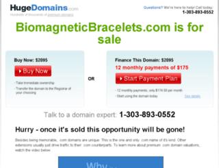 biomagneticbracelets.com screenshot