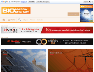 biomassaebioenergia.com.br screenshot
