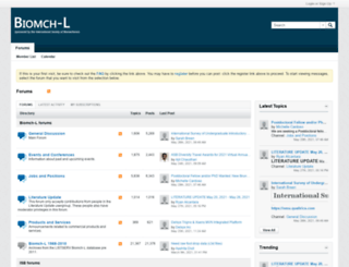 biomch-l.isbweb.org screenshot