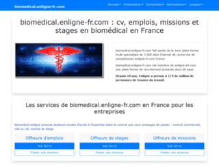 biomedical.enligne-fr.com screenshot