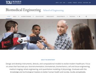 biomedicalengineering.tcnj.edu screenshot