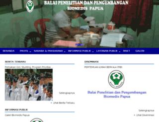 biomedis.jtspapua.com screenshot