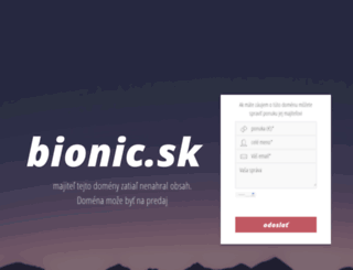 bionic.sk screenshot