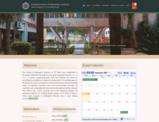 bioschool.iitd.ac.in screenshot