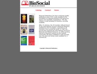biosocialpublications.com screenshot