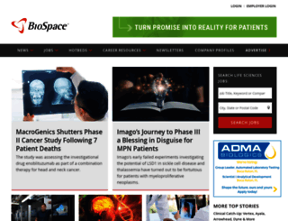 biospace.com screenshot