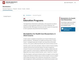 biostatgradprograms.iupui.edu screenshot